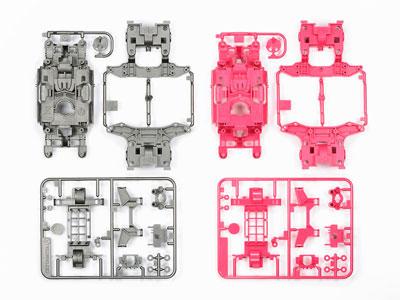 ミニ四駆特別企画 MS カラーシャーシセット (シルバー・ピンク)[タミヤ]《発売済・在庫品》