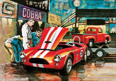 1/25 コブラ・レーシングチーム シェルビー・コブラ& 53年式フォード・ピックアップ&トレーラー プラモデル[AMT]《在庫切れ》