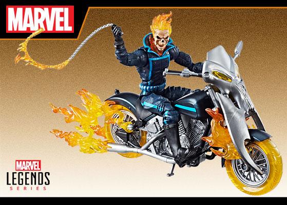 『マーベル・コミック』 ハズブロ アクションフィギュア 6インチ「レジェンド」ゴーストライダー&ヘルバイク[ハズブロ]《在庫切れ》
