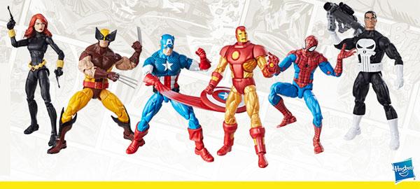 『マーベル・コミック』 ハズブロアクションフィギュア 6インチ「スーパーヒーローズ・ヴィンテージ」シリーズ1.0 アソート