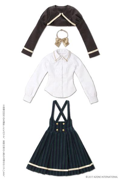 48/50cm用 AZO2 ボレロ制服セット グリーン(ドール用衣装)[アゾン]《取り寄せ※暫定》