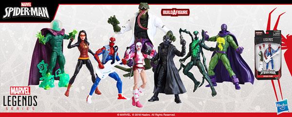 『マーベル・コミック』 ハズブロ 6インチ「レジェンド」 スパイダーマン シリーズ7.0 8個入りアソート