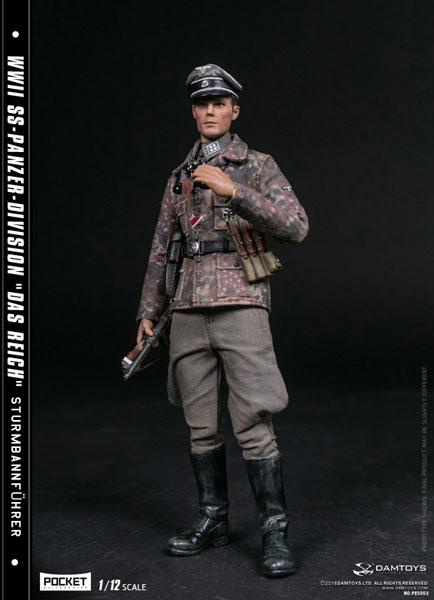 1/12 ポケット エリート シリーズ WWII 第2SS装甲師団 ダス・ライヒ 少佐