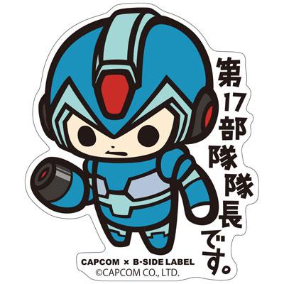 CAPCOM×B-SIDE LABELステッカー ロックマンX エックス[B-SIDE LABEL]《在庫切れ》