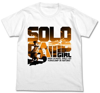 ゆるキャン△ ソロキャンガール Tシャツ/WHITE-M(再販)[コスパ]《08月予約》