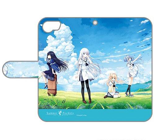 Summer Pockets 手帳型スマホケース iPhone6&7&8兼用(再販)[カーテン魂]《10月予約》
