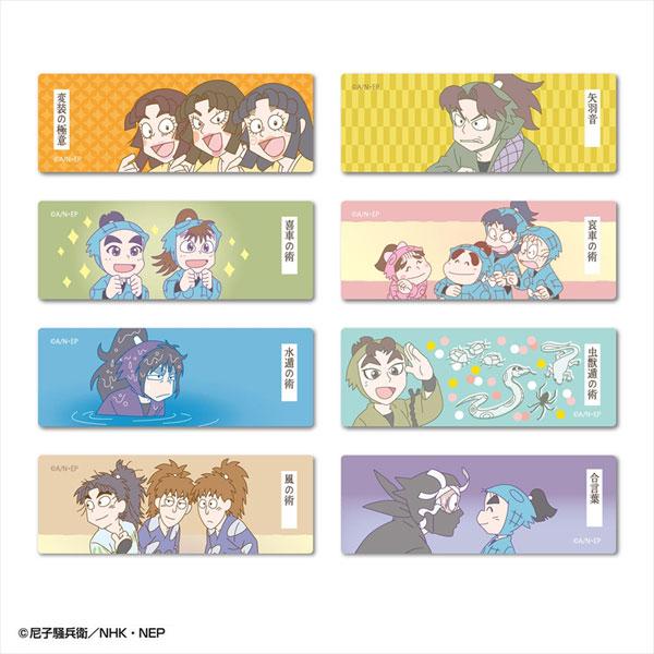 忍たま乱太郎 ロング缶バッジ ワザ コレクション 8個入りBOX[アトリエ・マギ]《在庫切れ》