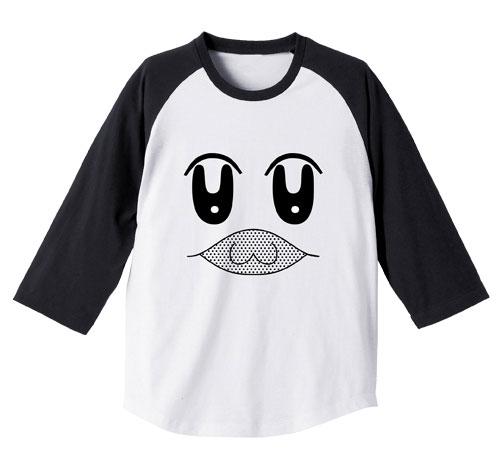 ポプテピピック ボブネミミッミ ラグラン Tシャツ/WHITE×BLACK-XL(再販)[コスパ]《発売済・在庫品》