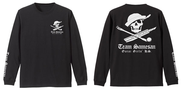 ガールズ&パンツァー最終章 サメさんチーム 袖リブロングスリーブTシャツ/BLACK-XL(再販)[コスパ]《07月予約》