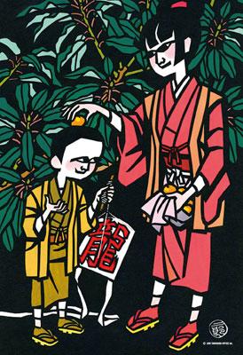 ジグソーパズル 滝平二郎 きりえコレクション 「譲葉」 300ピース(300-164)[キューティーズ]《在庫切れ》