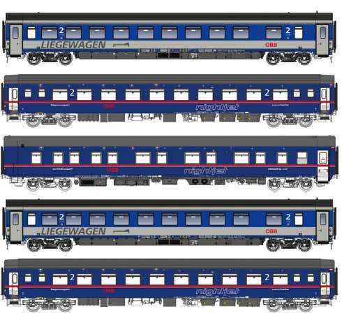 LS97032 Nゲージ nightjet 5両セット[L.S.Models]【送料無料】《在庫切れ》
