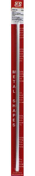 アルミパイプ 外径1/4インチ(6.35mm) 内径5.63mm 長さ12インチ(30cm)(1本入り)[K&S]《在庫切れ》