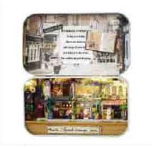 ミニチュアドールハウス 手作りキット ミュゼ缶 ロマンチックな街角[やのまん]《在庫切れ》