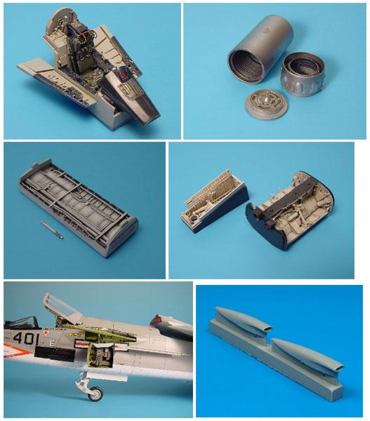 1/48 F-8E クルセーダー用ディテールセット (H社用)(再販)[アイリス]《発売済・在庫品》