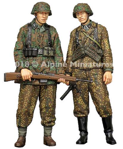1/35 WWII独 SS擲弾兵44-45(2体セット)[アルパイン]《在庫切れ》