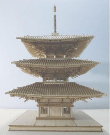 1/50 中国仏塔(三重塔)[Artist Hobby]【送料無料】《在庫切れ》