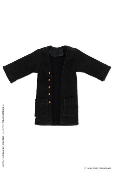 ピコニーモ用 1/12 ロングカーディガン ブラック (ドール用)[アゾン]《発売済・在庫品》