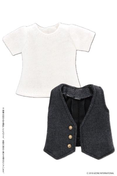 ピコニーモ用 1/12 Tシャツ&ジレセット ダークグレイ (ドール用)[アゾン]《発売済・在庫品》