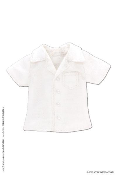 ピコニーモ用 1/12 開襟半袖シャツ ホワイト (ドール用)[アゾン]《発売済・在庫品》