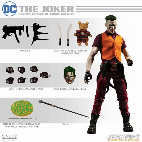 ワン12コレクティブ/ DCコミックス: ジョーカー 1/12 アクションフィギュア クラウンプリンス・オブ・クライム ver[メズコ]《12月仮予約》