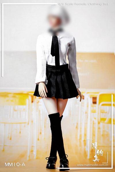 1/6 女子高生 制服 セット ブラック (ドール用)[マンモデル]《在庫切れ》