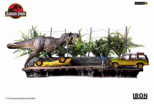 ジュラシック・パーク/ T-REX ティラノサウルス アタック 1/10 スタチュー コンプリート[アイアン・スタジオ]【同梱不可】【送料無料】《01月仮予約》