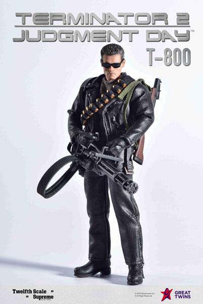 【特典】ターミネーター2 T2/ T-800 1/12 シュプリーム アクションフィギュア[グレートツインズ]【送料無料】《在庫切れ》