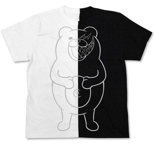 ニューダンガンロンパV3 みんなのコロシアイ新学期 モノクマ グラフィック ニコイチTシャツ/WHITE×BLACK-XL(再販)[コスパ]《11月予約》