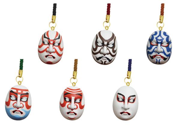 日本のお土産 歌舞伎 隈取根付 18個入りBOX[海洋堂]《在庫切れ》