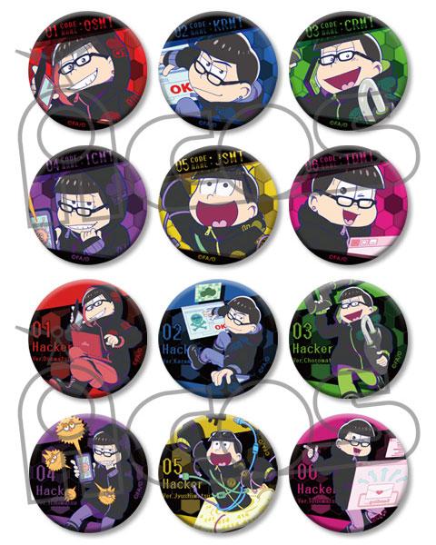 おそ松さん Hacker's Badge Collection 12個入りBOX[ムービック]《発売済・在庫品》
