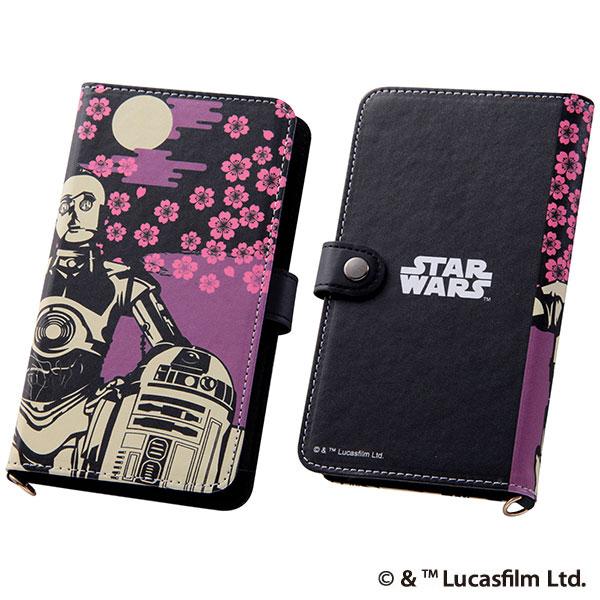 スマートフォン用マルチケース 和/スター・ウォーズ 和/C-3PO、R2-D2[イングレム]《在庫切れ》
