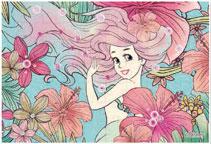 パズルデコレーションmini ディズニー Royal Floral(アリエル) 70ピース (70-010)[エポック]《在庫切れ》