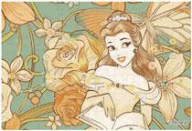 パズルデコレーションmini ディズニー Royal Floral(ベル) 70ピース (70-011)[エポック]《在庫切れ》