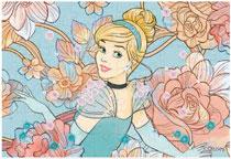 パズルデコレーションmini ディズニー Royal Floral(シンデレラ) 70ピース (70-012)[エポック]《在庫切れ》