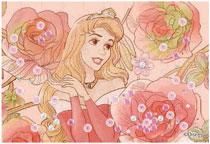 パズルデコレーションmini ディズニー Royal Floral(オーロラ姫) 70ピース (70-013)[エポック]《在庫切れ》