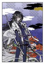 ジグソーパズル プリズムアートプチ 刀剣乱舞-ONLINE- 数珠丸恒次(牡丹) 70ピース (97-198)[やのまん]《在庫切れ》