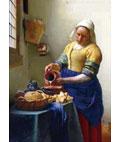 ジグソーパズル 世界の絵画(世界最小) 牛乳を注ぐ女 2000SSピース (54-020)[エポック]《在庫切れ》