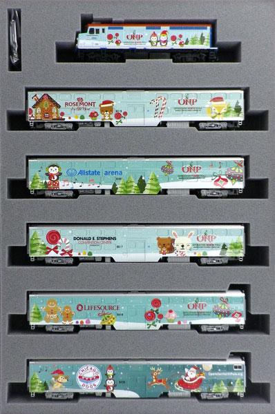 106-2017 (N)クリスマストレイン (2017) F40PH機関車/ギャラリー・バイレベル客車 6両セット[ホビーセンターカトー]【送料無料】《11月予約》