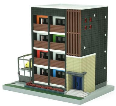 建物コレクション160 デザイナーズ・アパート[トミーテック]《10月予約》