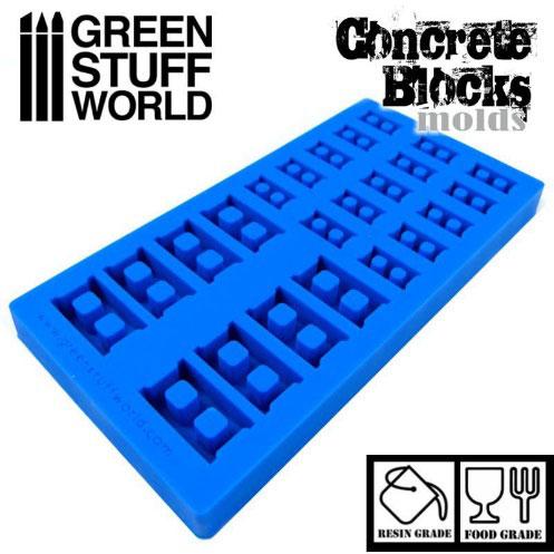コンクリートブロック製造セット シリコン型[グリーンスタッフワールド]《08月予約》