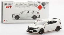 1/64 ホンダ シビックType R チャンピオンシップホワイト(右ハンドル)[MINI GT]《08月予約》
