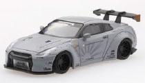 1/64 LB★WORKS 日産 GT-R R35 GTウイング メタルグレー(右ハンドル)[MINI GT]《08月予約》