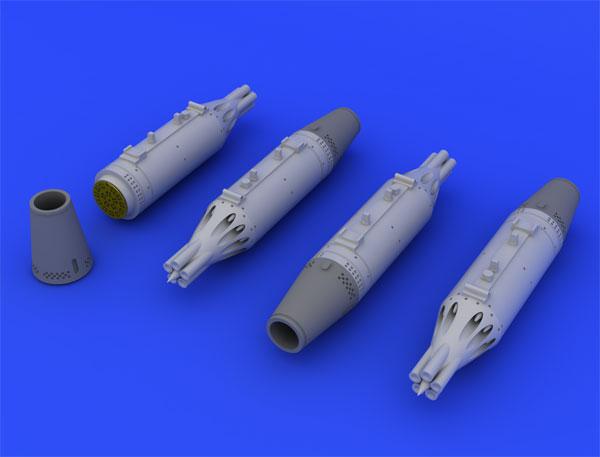 1/72 UB-16 ロケットポッド (MiG-21用、4個入り) (エデュアルド用)(再販)[エデュアルド]《09月予約※暫定》