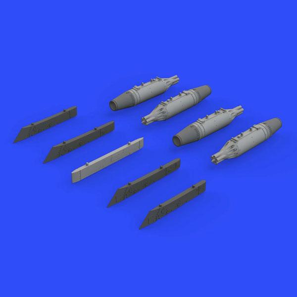 1/72 UB-16 ロケットポッド (4個入り) w/MiG-21パイロン (エデュアルド用)[エデュアルド]《在庫切れ》