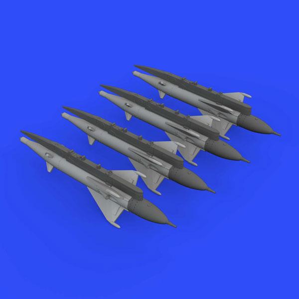 1/72 RS-2US アルカリ 空対空ミサイル (MiG-21用、4個入り) (エデュアルド用)(再販)[エデュアルド]《09月予約※暫定》