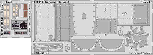1/35 フレットナー Fl 282 エッチングパーツ (ミニアート用)[エデュアルド]《在庫切れ》
