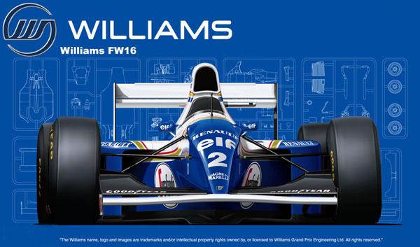 1/20 グランプリシリーズ No.24 ウィリアムズ FW16ルノー(サンマリノGP/ブラジルGP/パシフィックGP) プラモデル[フジミ模型]《発売済・在庫品》