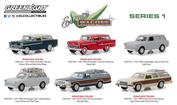 1/64 Estate Wagons Series 1 6個入りアソート[グリーンライト]《在庫切れ》