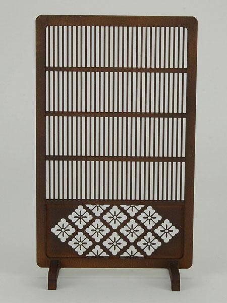 木製組立キット 和の造作 1/12 和モダンなつい立3[コバアニ模型工房]《在庫切れ》