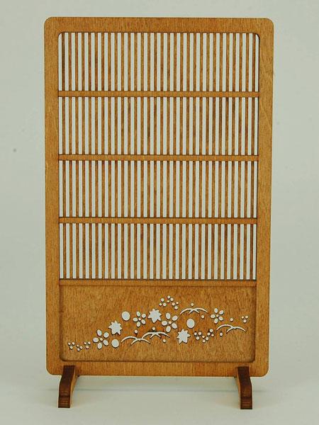 木製組立キット 和の造作 1/12 和モダンなつい立4[コバアニ模型工房]《在庫切れ》